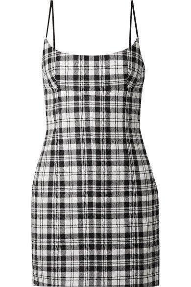 Alexander Wang | Tartan wool mini dress | NET-A-PORTER.COM