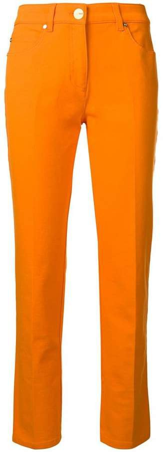 mid-rise slim trousers
