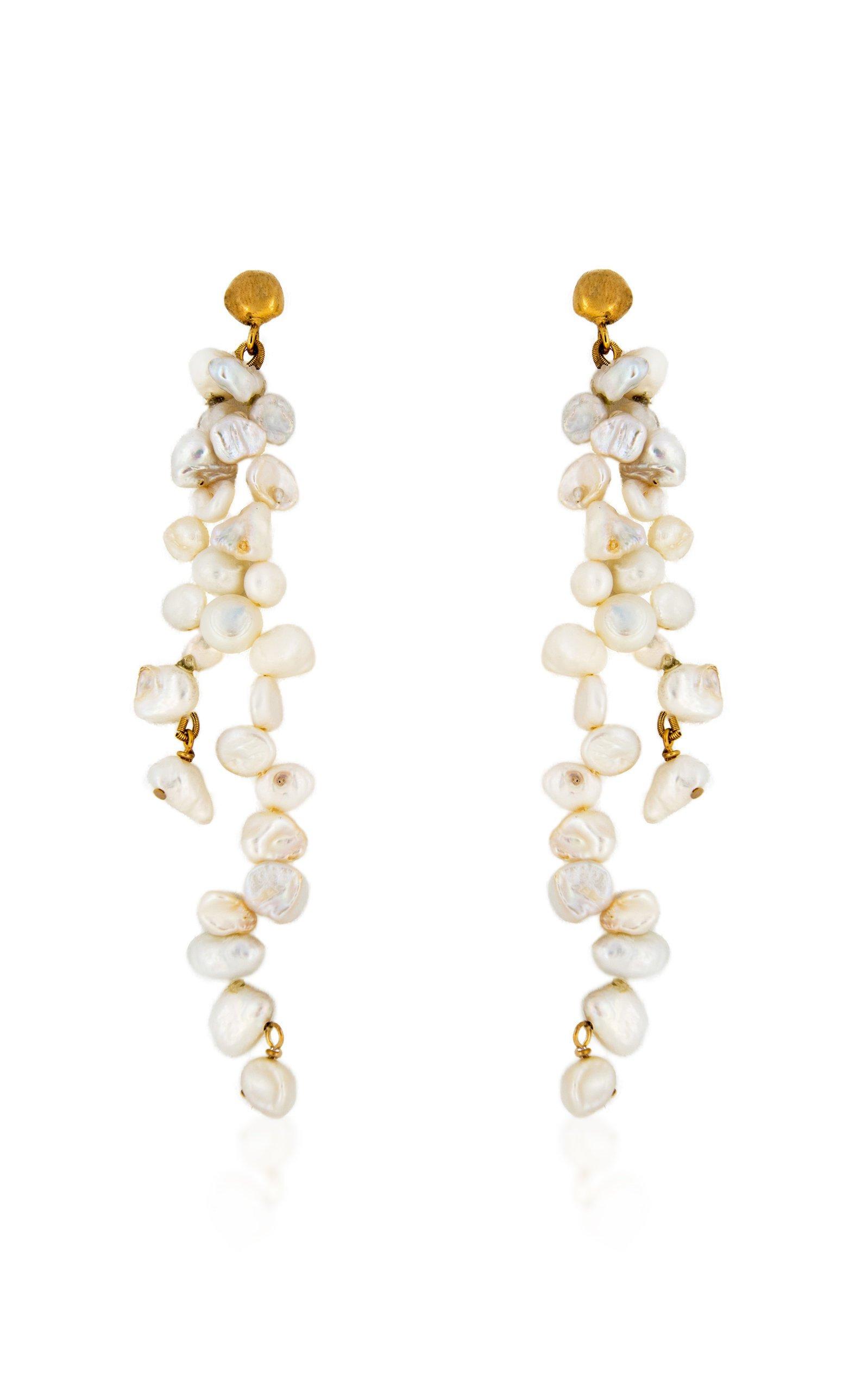 Holly Ryan Meteor Pearl Double Drop Earrings
