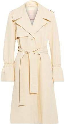 Slub Cotton-blend Trench Coat
