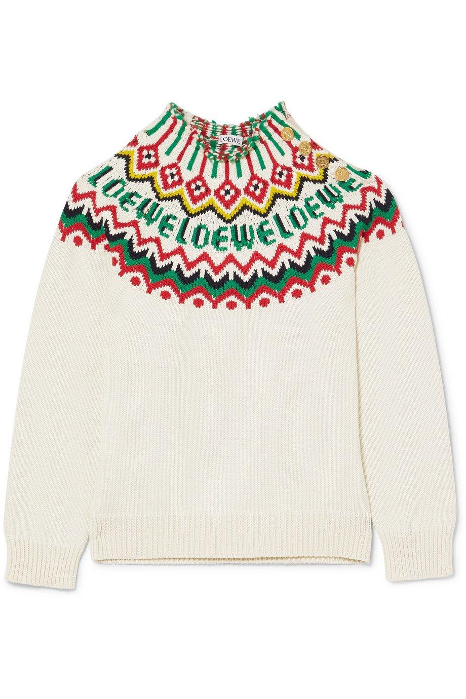 Loewe   Fair Isle cotton-blend sweater   NET-A-PORTER.COM