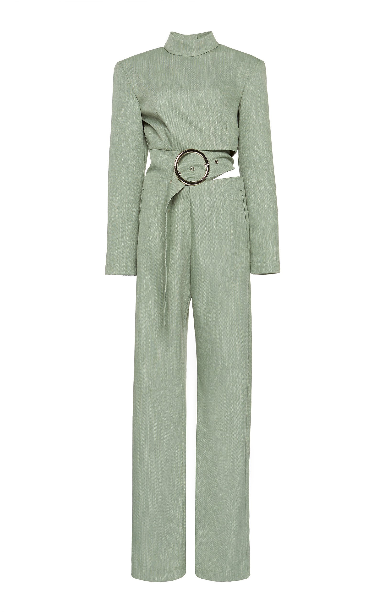 MATÉRIEL Fitted Jumpsuit With Cut Out Belt And Button Down Back