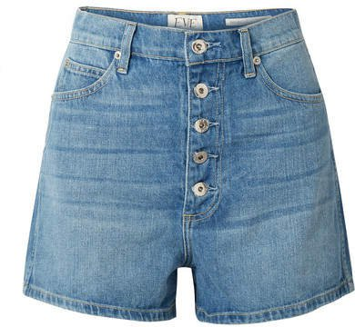 Leo Denim Shorts - Light blue