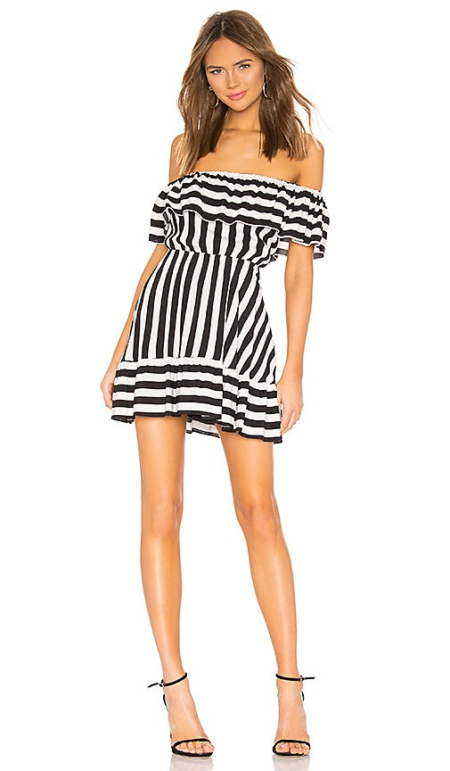 Lovers + Friends Rue Mini Dress in Black & White | REVOLVE