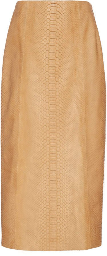 The Row Jenna Python Midi Skirt Size: 2