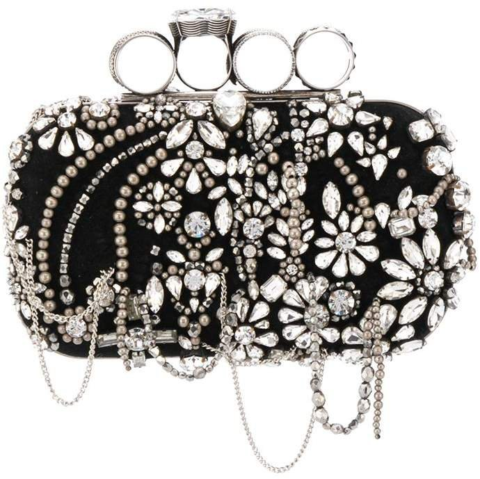Four Ring embellished box clutch