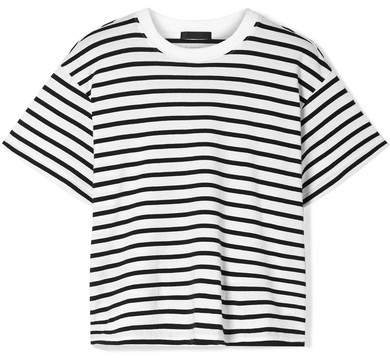 Boy Striped Cotton-jersey T-shirt - Black