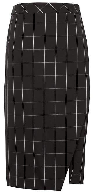 Bi-Stretch Wrap-Front Pencil Skirt