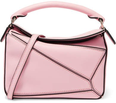 Puzzle Mini Textured-leather Shoulder Bag - Pink