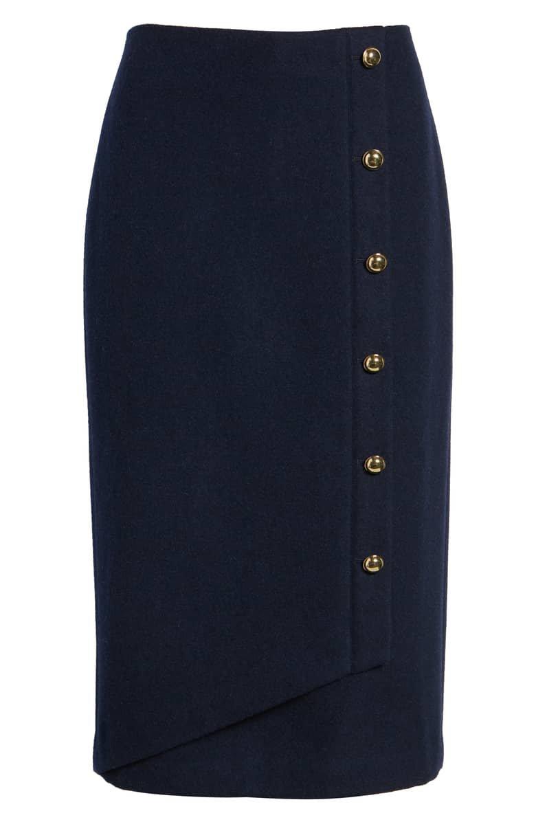 Halogen® x Atlantic-Pacific Wrap Pencil Skirt (Regular & Petite) | Nordstrom