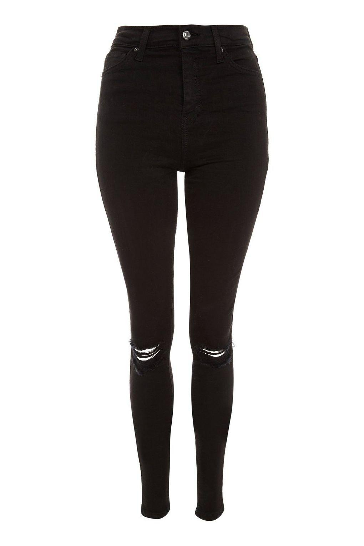 TALL Black Ripped Jamie Jeans - Jamie Jeans - Jeans - Topshop