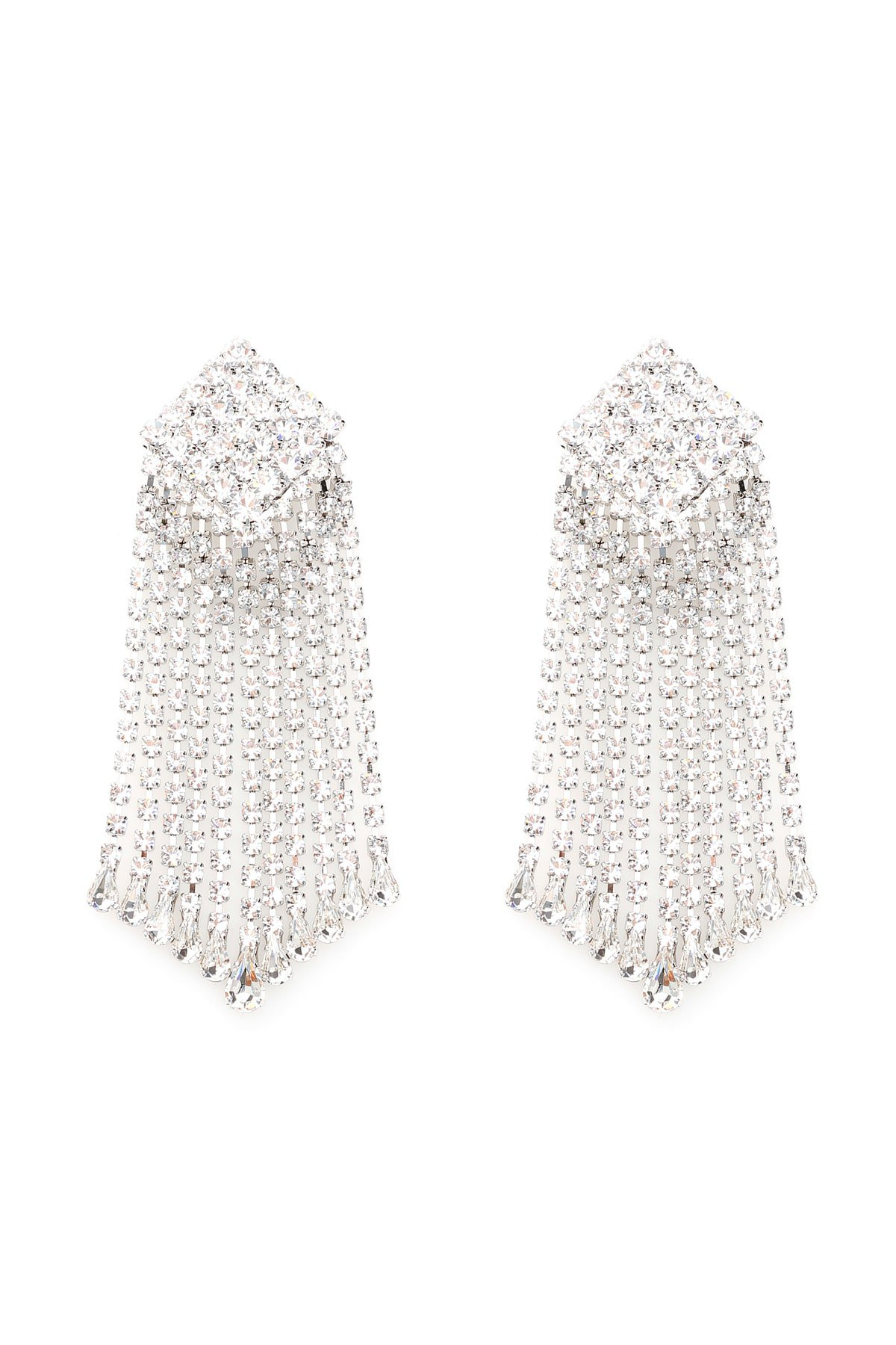 Alessandra Rich Crystal Square Earrings