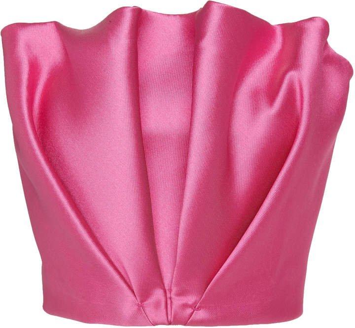 Petal Bustier Silk Crop Top