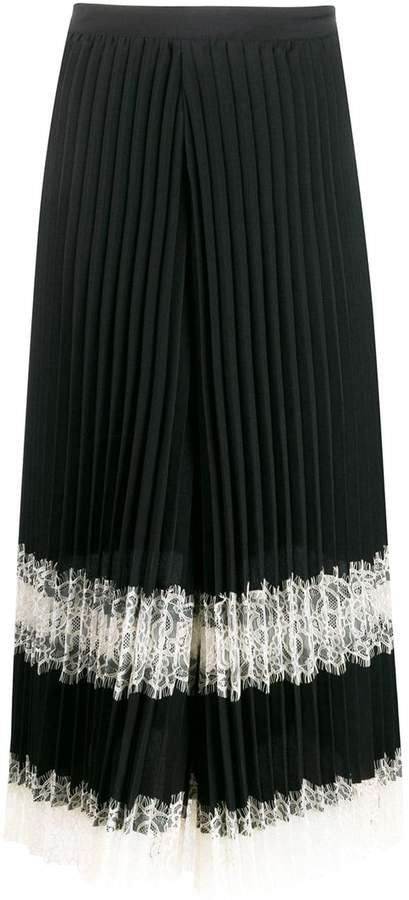 pleated lace trousers