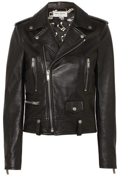 SAINT LAURENT | Leather biker jacket | NET-A-PORTER.COM