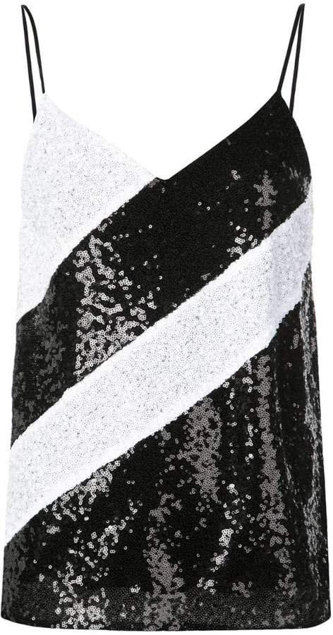 sequined sleeveless top