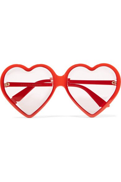 Gucci | Heart-shaped acetate sunglasses | NET-A-PORTER.COM