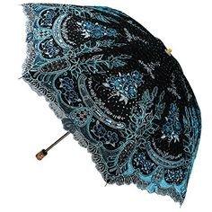 (1) Pinterest - New Women Embroidery Flower Sun Rain Umbrellas Anti UV Lace two folding Parasol #RainbowHouse #Parasol   ANTI UV umbrella parasol