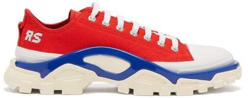 Detroit Runner Canvas Low Top Trainers - Womens - Red Multi