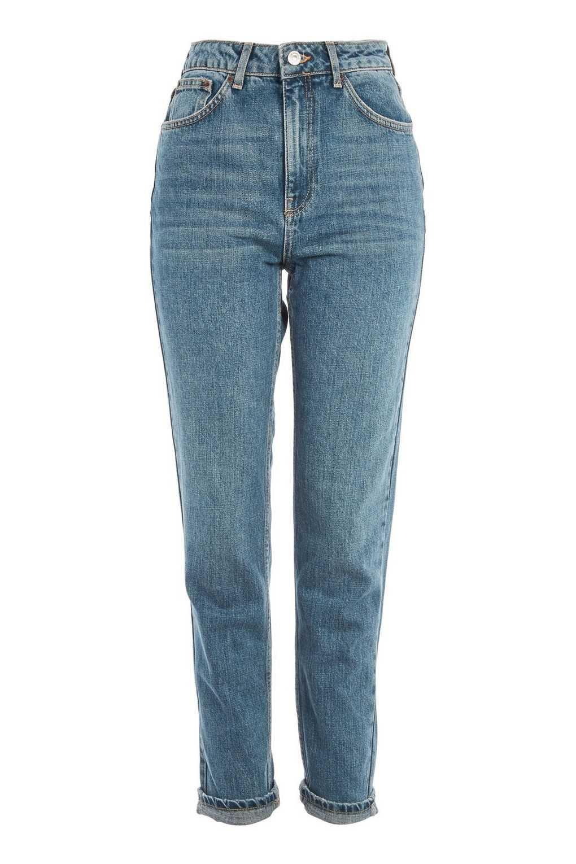 MOTO Authentic Blue Mom Jeans   Topshop