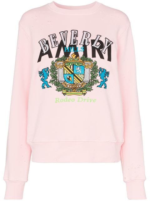 Amiri beverly hills cotton sweatshirt $875 - Shop SS19 Online - Fast Delivery, Price