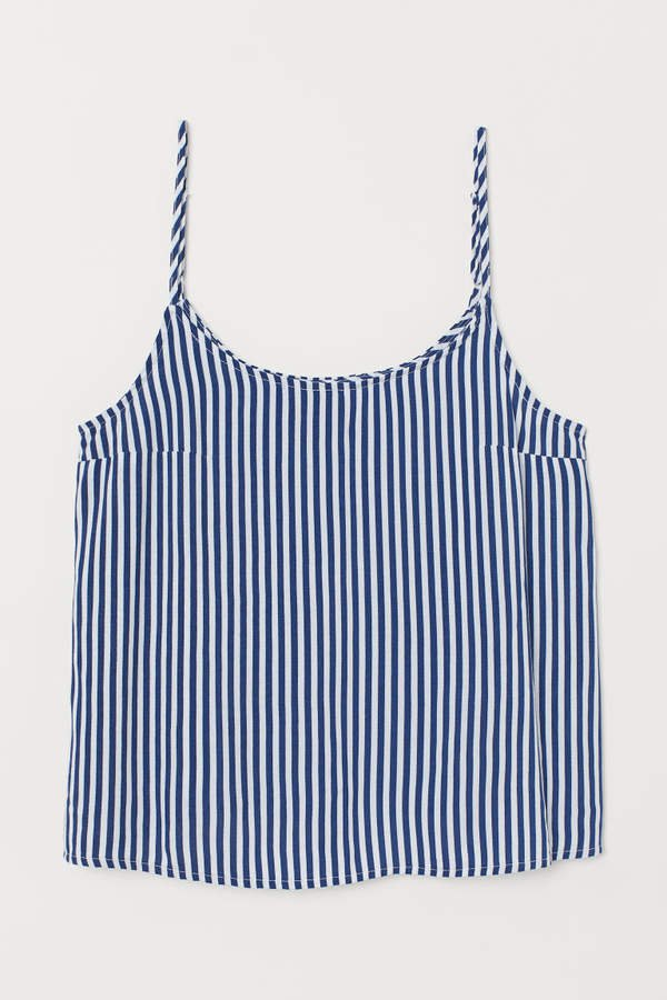 Patterned Camisole Top - Blue
