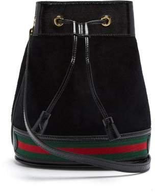 Ophidia Suede Bucket Bag - Womens - Black Multi