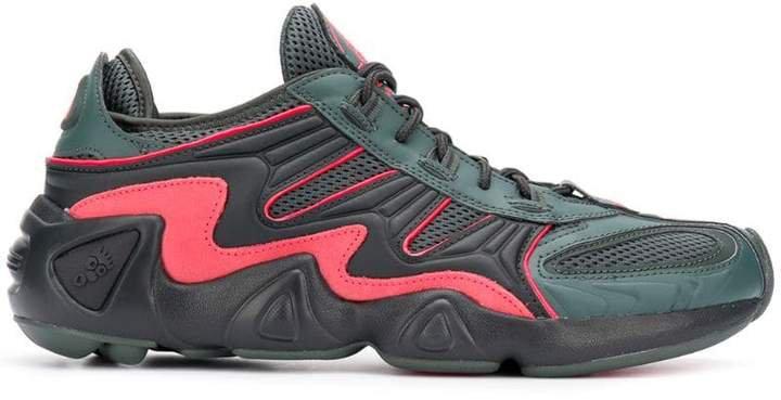 mesh panel sneakers