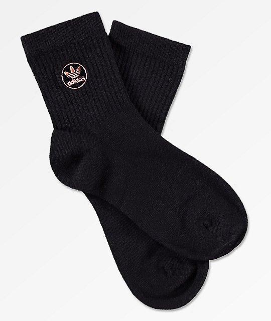 adidas Icon Patch Black Ankle Socks   Zumiez