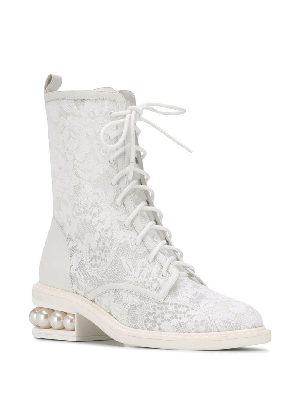 Nicholas Kirkwood Casati Pearl Combat Boots - Farfetch