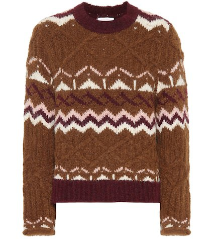 Fair Isle alpaca-blend sweater