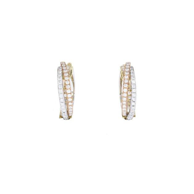 Diamond Russian Wedding Hoop Earrings | Luxury Jewellery Edinburgh | Hamilton & Inches