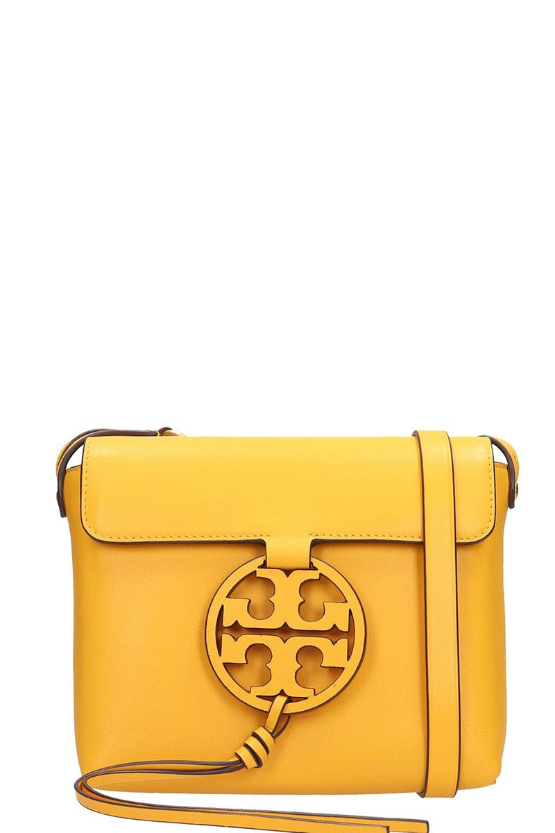 Tory Burch Yellow Leather Miller Bag