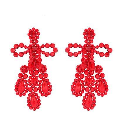 Crystal-beaded earrings
