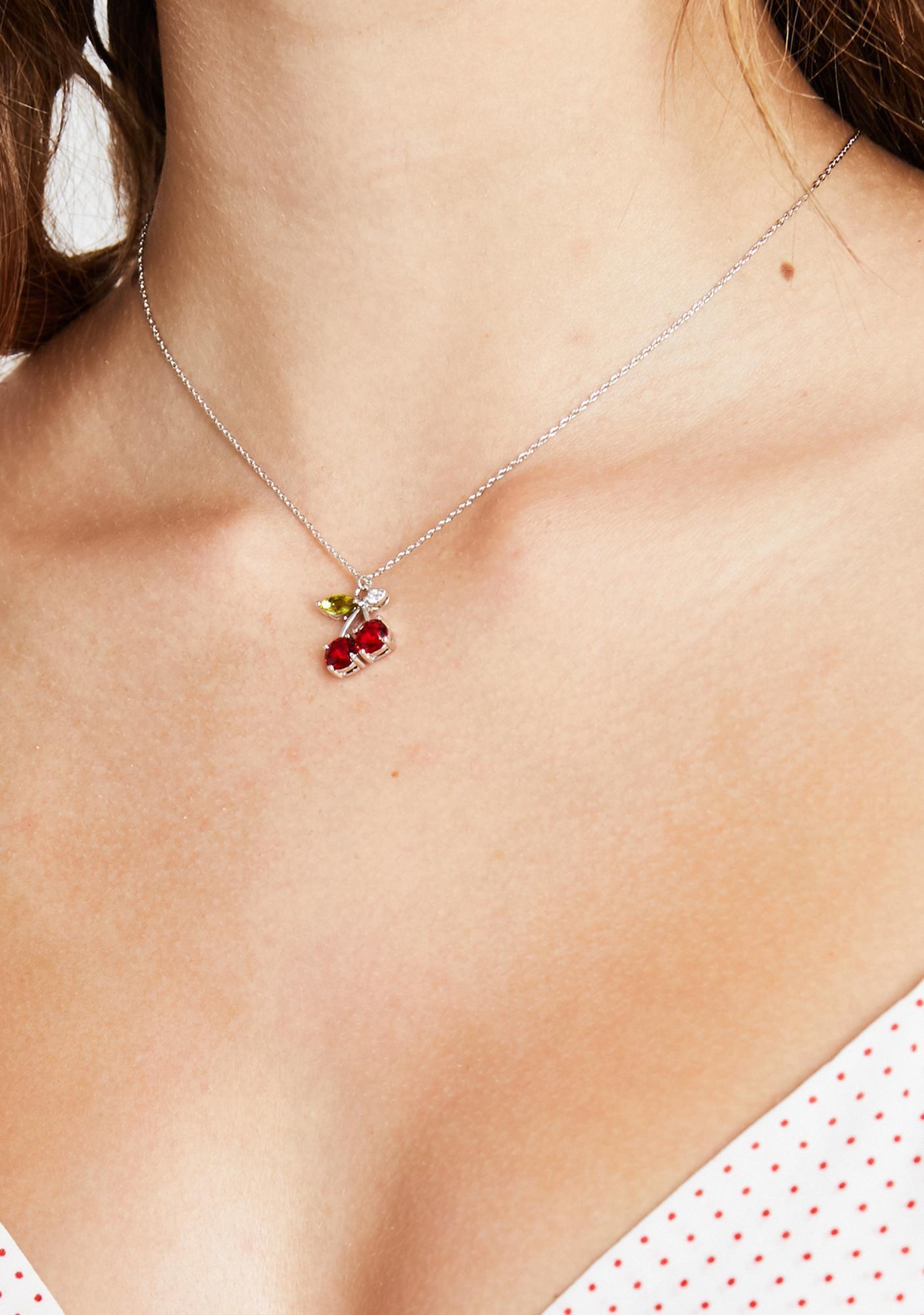 Cherry Charm Chain Necklace | Dolls Kill