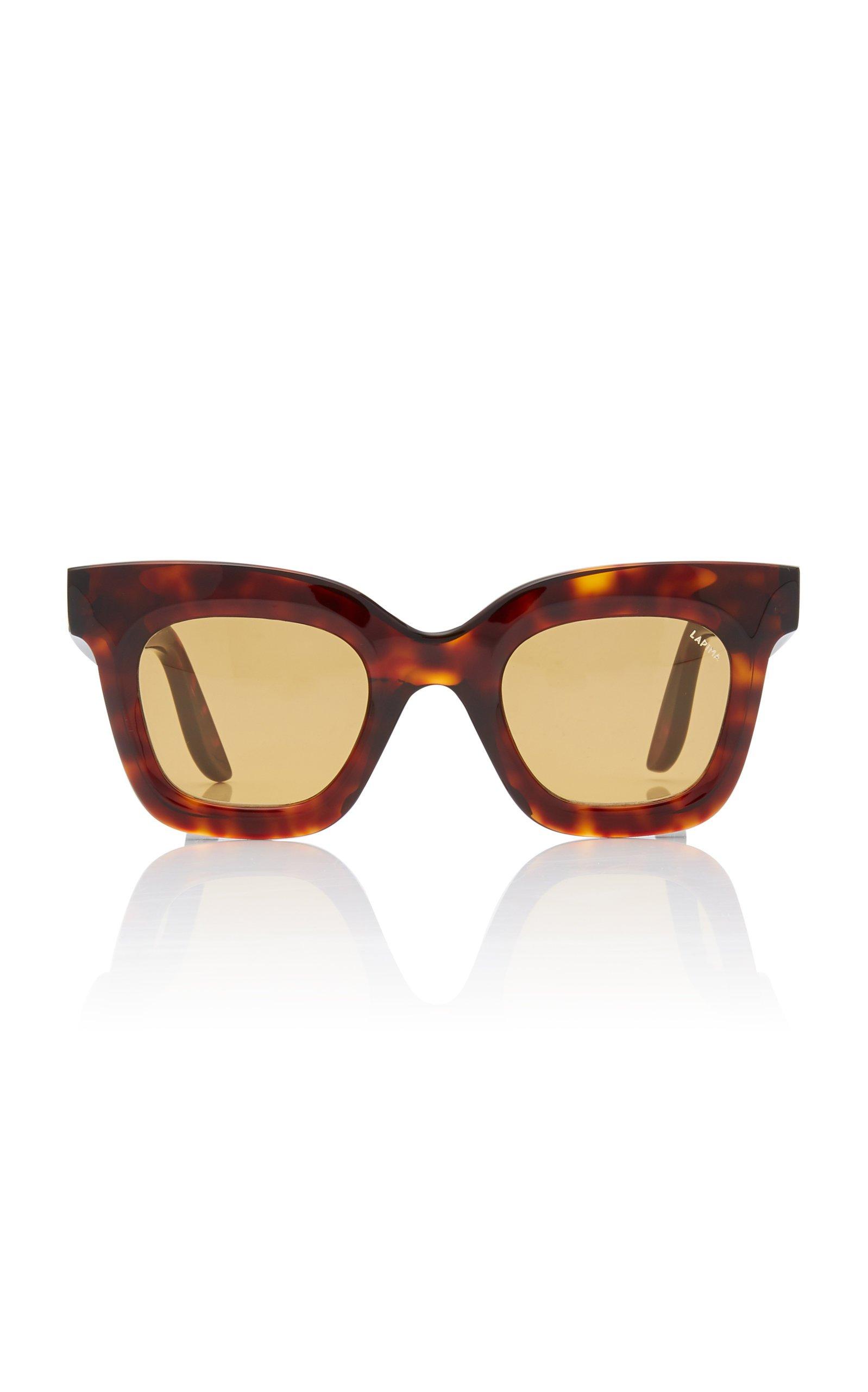 Lapima Lisa Square-Frame Tortoiseshell Acetate Sunglasses