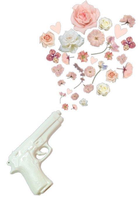 png filler white gun flower pink mood
