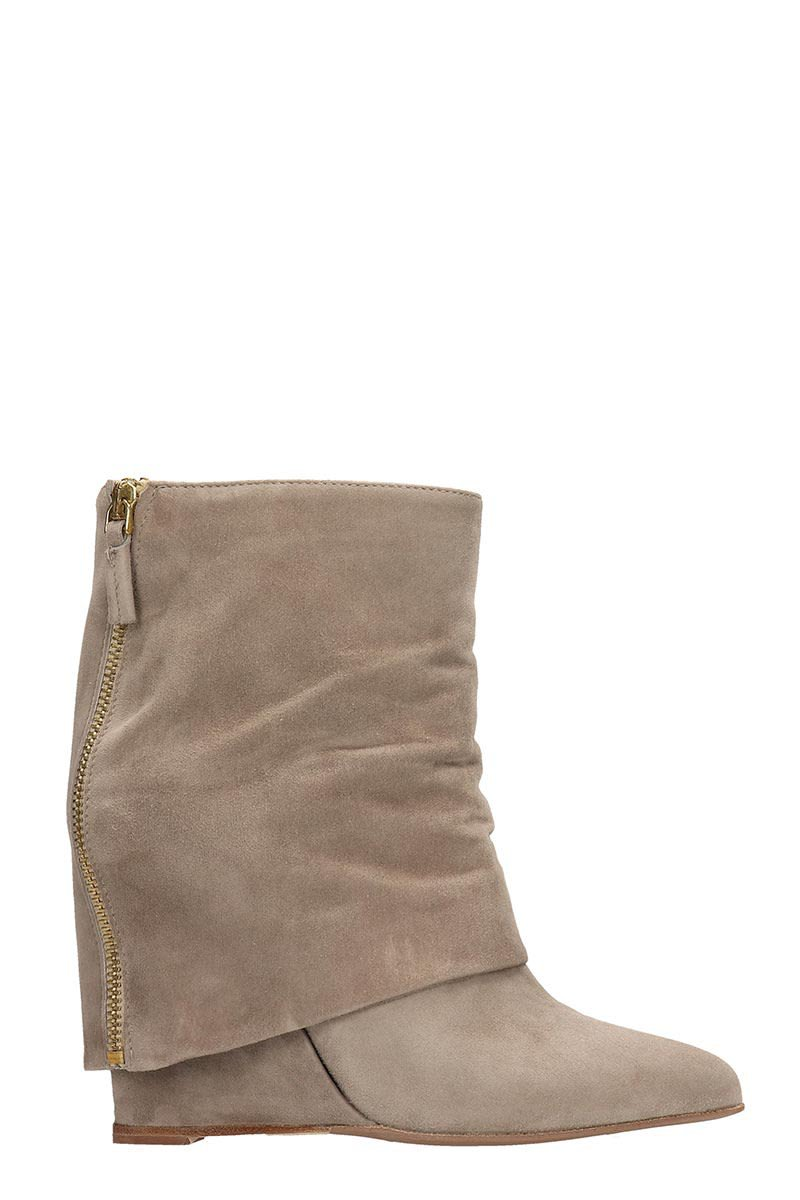 The Seller Beige Suede Ankle Boots