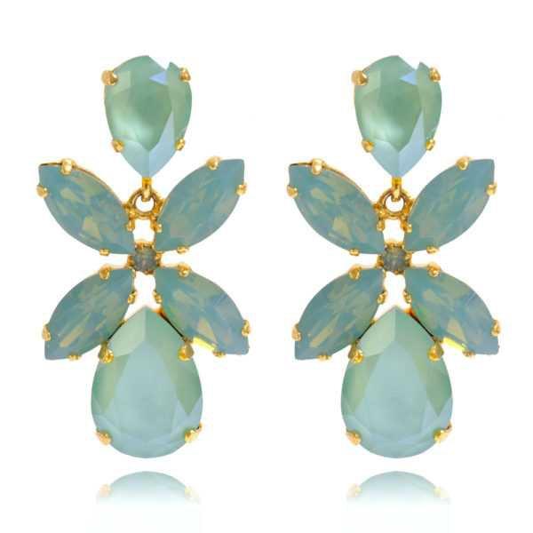 Dione Earrings / Mint Green   Caroline Svedbom Jewelry