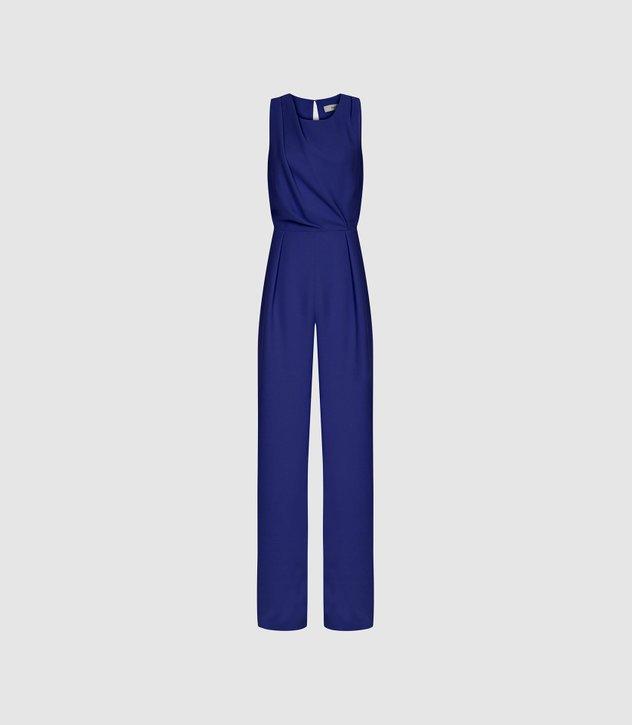 Chey Blue Cut Out Detail Jumpsuit – REISS