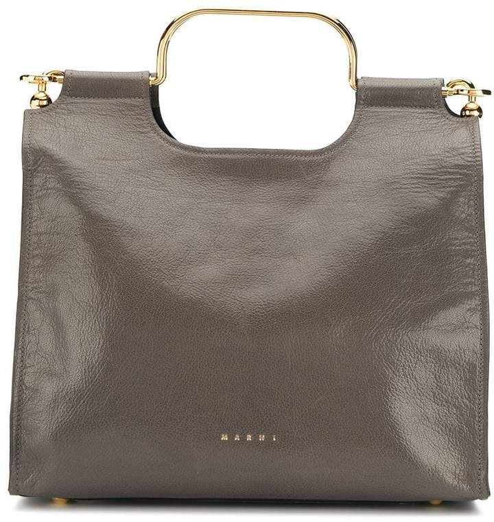 gold-tone detail tote