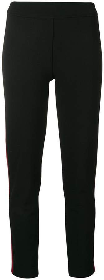 Roqa side stripe cigarette trousers