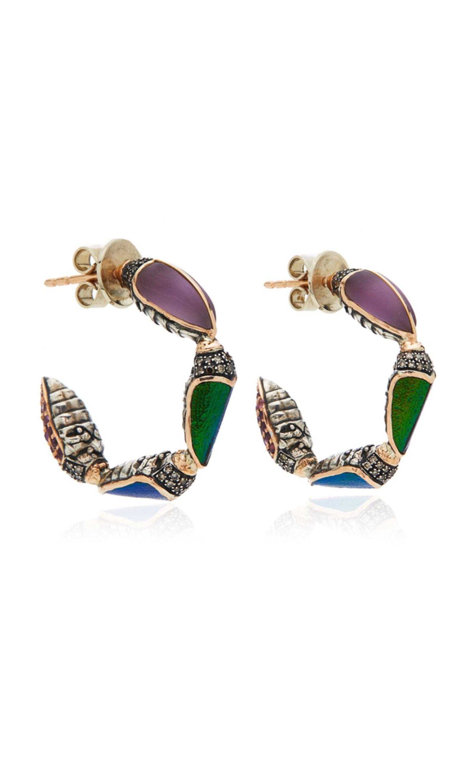 Bibi van der Velden Scarab Hoop Earrings