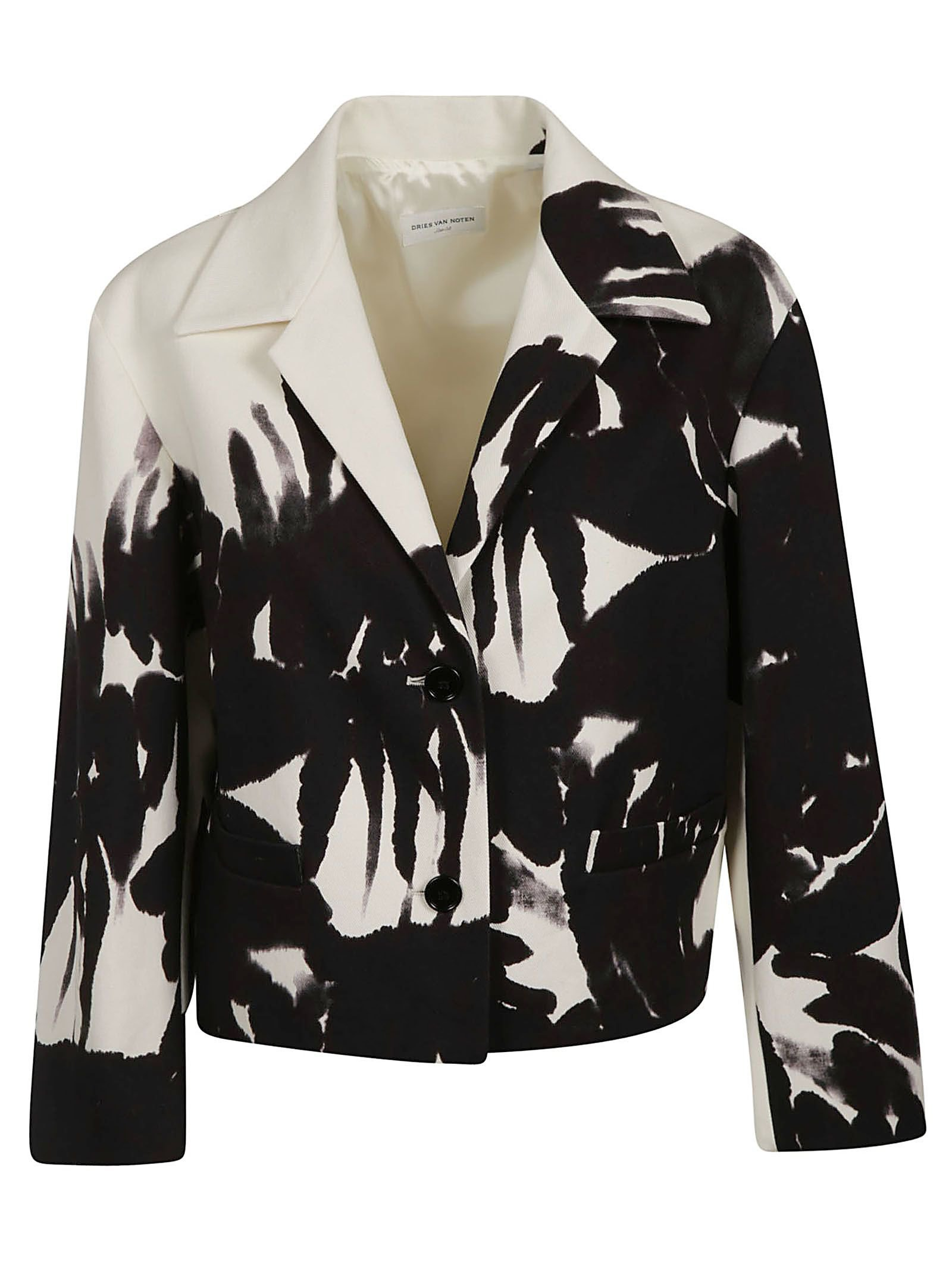 Dries Van Noten Tropical Print Blazer