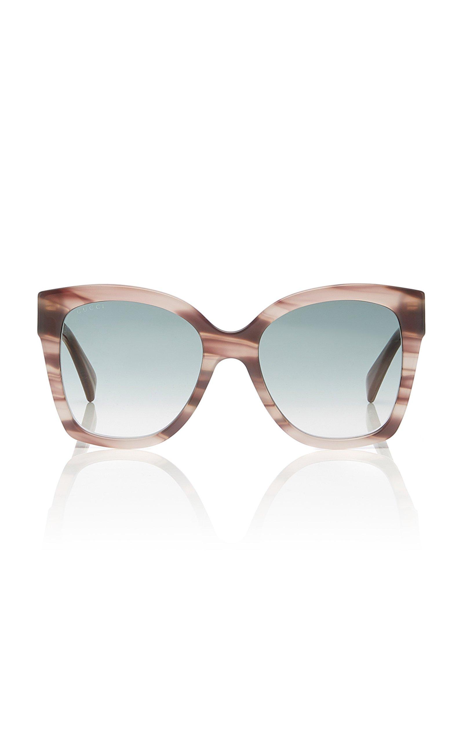 Gucci Sunglasses Marbled Acetate Square-Frame Sunglasses