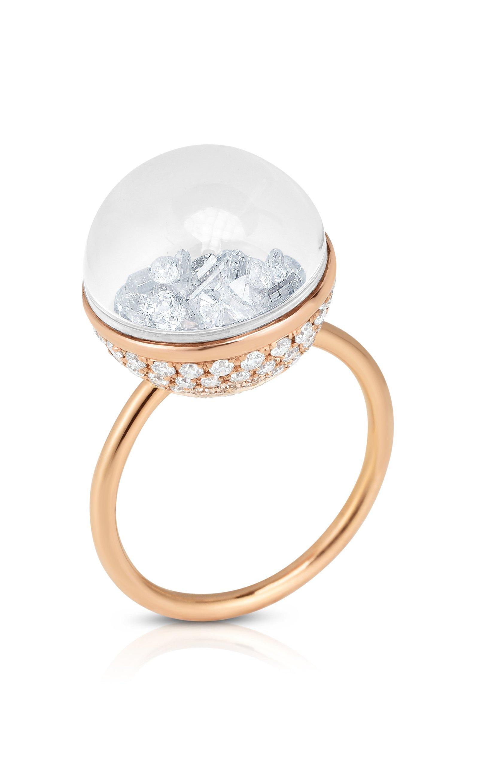 Moritz Glik Diamond Kaleidoscope Dome Shaker Ring