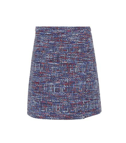 Cotton-blend tweed miniskirt
