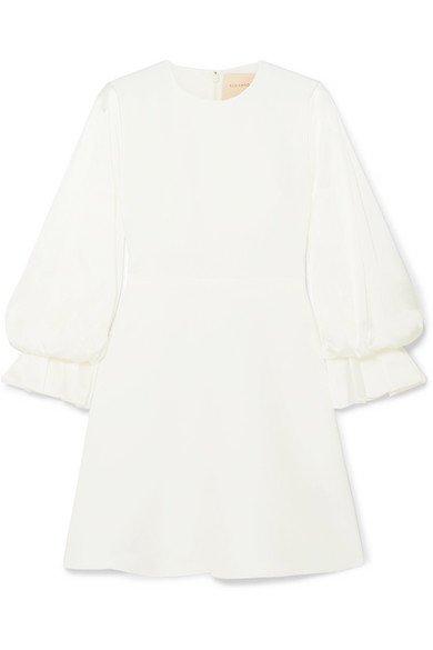 Roksanda | Leonie cady and satin mini dress | NET-A-PORTER.COM