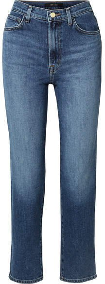 Jules High-rise Straight-leg Jeans - Mid denim