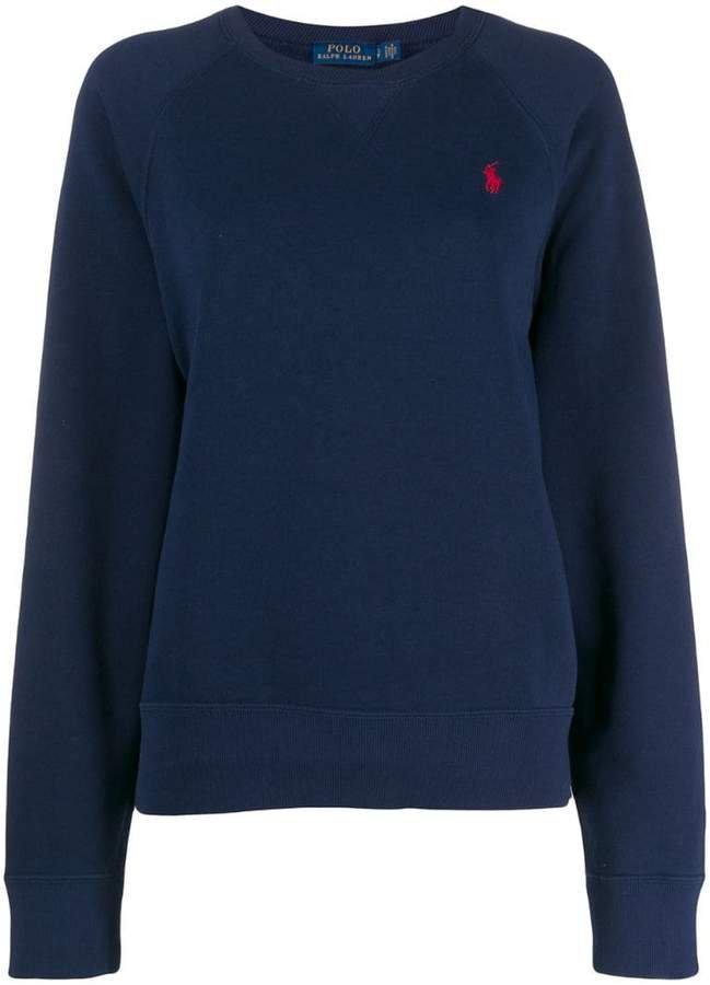 logo embroidered sweatshirt